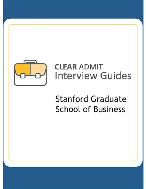 Stanford Graduate School Of Business Mba by Guide Stanford Graduate School Of Business
