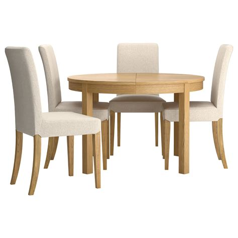 henriksdal bjursta table and 4 chairs oak veneer linneryd