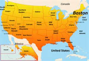 us map where is boston boston map showing attractions accommodation