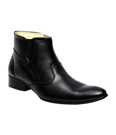 Comfort Boots by C Comfort Black Leather Formal Boots For Price In
