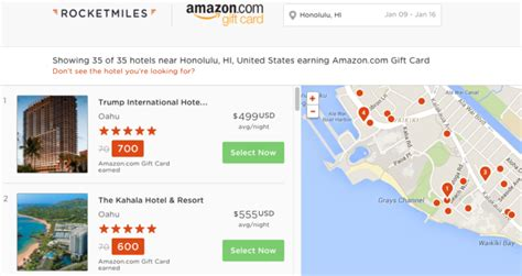 Amazon Gift Card Search - earn amazon gift cards by booking hotels with rocketmiles