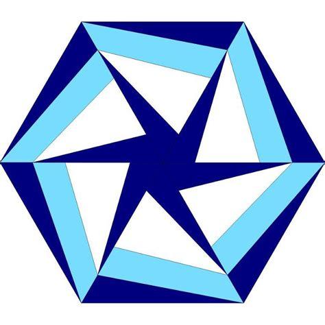 Hexagon Block by The Tilted Quilt Spinning Hexagon Block