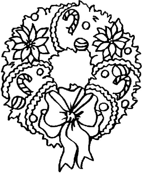 coloring book page wreath xmas coloring pages