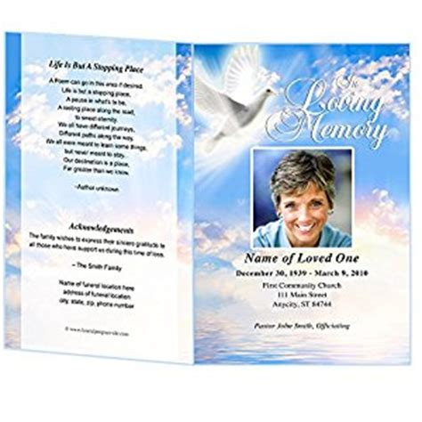 microsoft office funeral program template peace funeral program template microsoft word