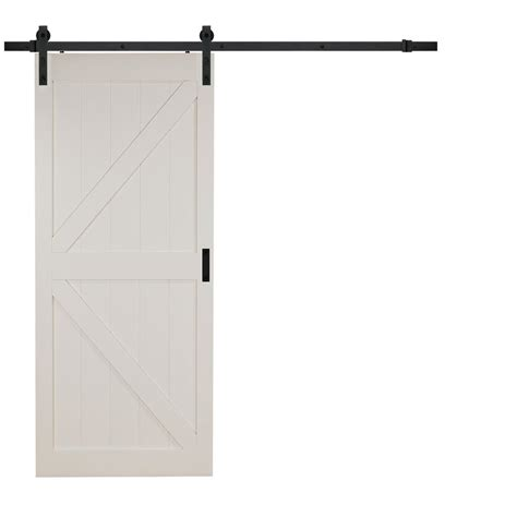 home depot white interior doors 2018 truporte 36 in x 84 in white k design solid interior barn door with rustic hardware