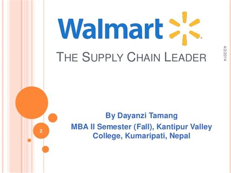 Kantipur Valley College Mba walmart supply chain management 1 april 2014