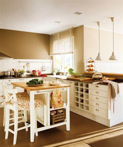 cocina con isla reforma de una casa estilo htons