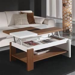 Table De Salon Ikea Pas Cher #9: Table-basse-relevable-plateau-bois-et-blanc.jpg