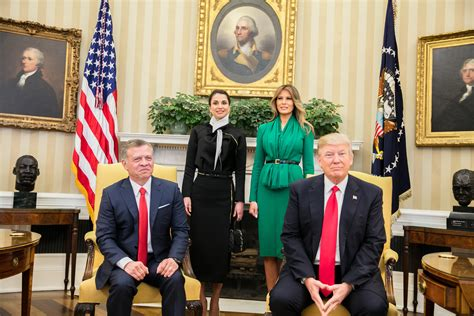 trump oval office abroad king abdullah ii official website