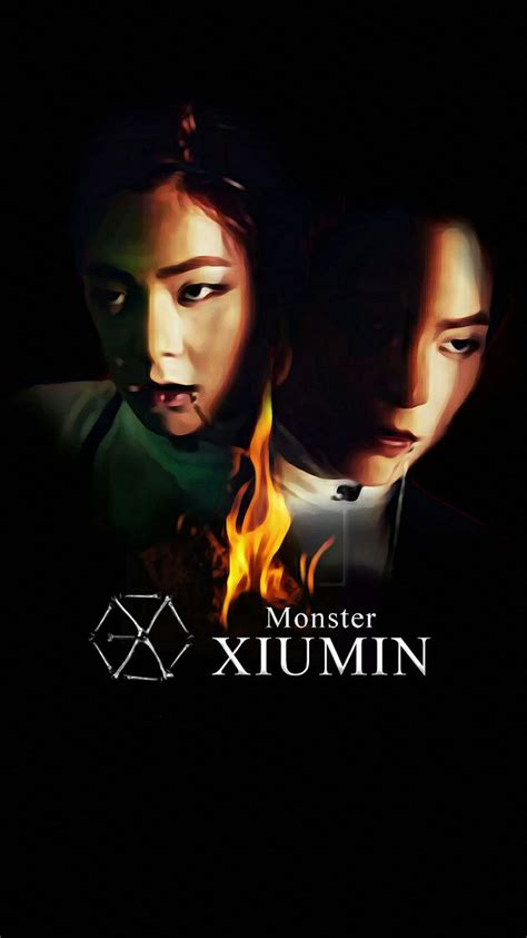 exo iphone wallpaper 2016 wallpaper exo 2016 monster teaser xiumin by