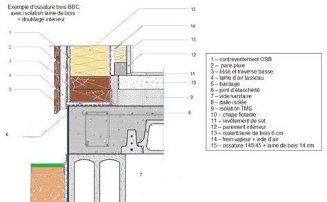 Brique Ou Parpaing Rt2012 by Epaisseur Mur Maison Ossature Bois 6 Coupe De Mur