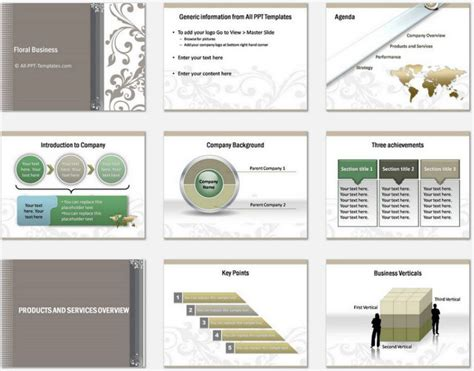 Powerpoint Floral Business Introduction Template Company Introduction Presentation