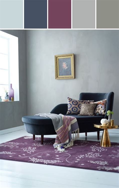 plum and grey living room navy and grayed plum designed by perrone stylyze creative director via stylyze color