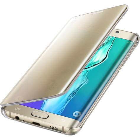 Samsung Original Clear Cover For S6 Edge Gold samsung galaxy s6 edge plus s view clear
