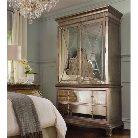 wardrobe armoire with mirror hooker furniture sanctuary mirror armoire in visage 3016