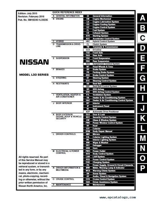 manual repair autos 2012 nissan sentra interior lighting download nissan altima l33 model 2014 2016 esm