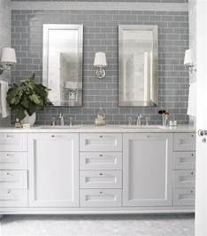 gray subway tile backsplash garrett design bathrooms gray subway tile