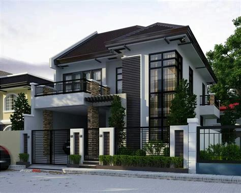 two storey modern house brighter color perhaps dom house bright colours