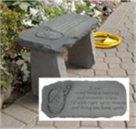 if tears could build a stairway bench small memorial angel garden bench quot if tears could build a