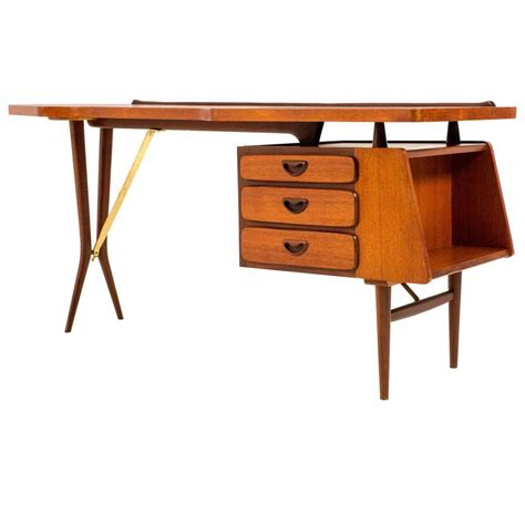 iconic mid century modern desk by louis teeffelen for