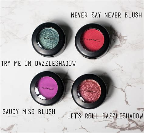 say matte mac dazzleshadow and matte blush review the