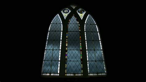 Arched Church Windows Inspiration Time Lapse Clouds Through Arched Church Window Stock Footage 697123
