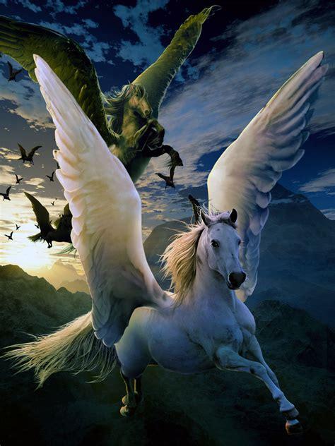 imagenes de unicornios volando banco de im 193 genes pegasos blancos y negros volando por el