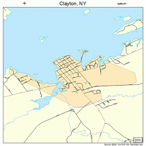 Clayton Ny | clayton new york street map 3616089