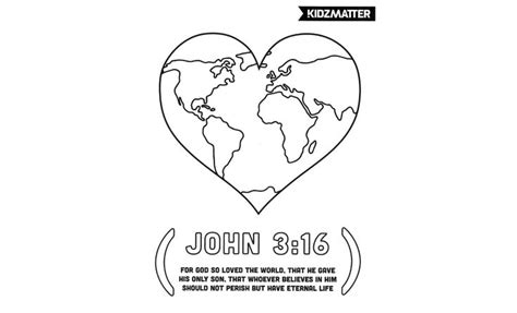 god so loved the world coloring page children s worship