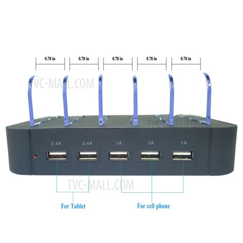 Diskon 3 Usb Charger For Smartphone Iphone Tablet Psp Usb Device 2 4a 5 port usb charging station dock for iphone smartphone tablet black eu tvc