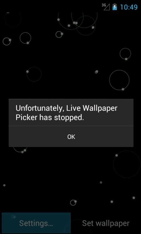 live wallpaper android java android 生活壁纸崩溃时点击settings 爱编程的大狗