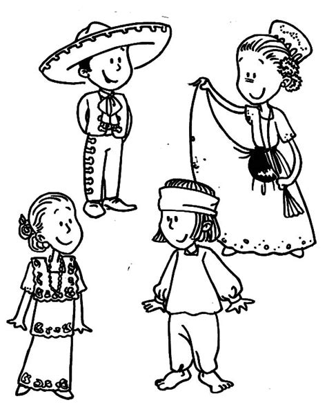 mexican girl coloring page mexican dress coloring pages related keywords mexican
