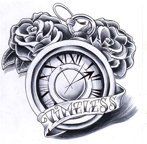 tattoo sketch generator nice grey rose and simple clock tattoo design with