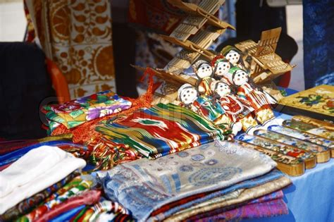 Handmade Items That Sell At Flea Markets - handmade items in the open air flea market stock photo