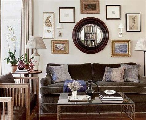 brown couch living room decorating around a brown couch via homedesign proprety