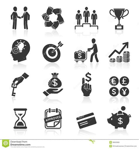 Set Of Business Icons Human Resource Finance Royalty Free Stock Photos Image 33611768 Business Icons Management And Human Resources Stock Vector Illustration Of Finance Credit