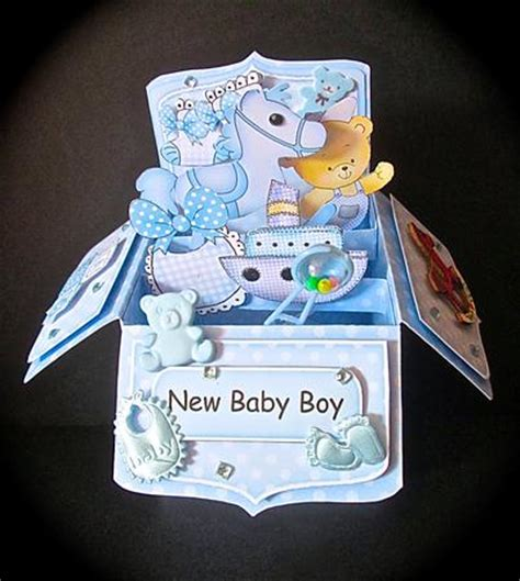 pop up card baby template 3d new baby boy rubber band pop up box card cup527258