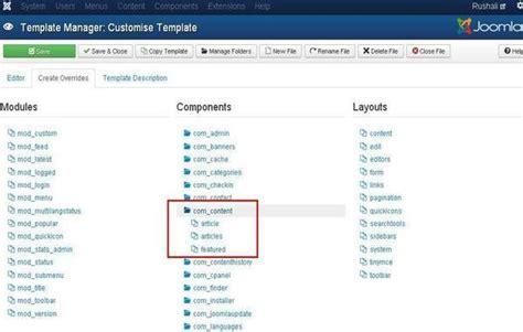 joomla tutorial point joomla customize template