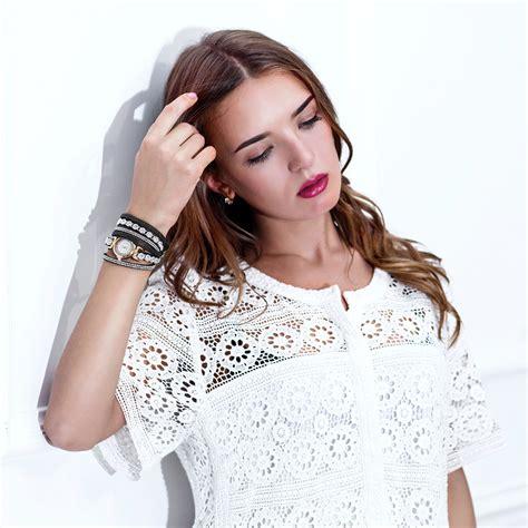 Gelang Model 202 jam tangan wanita model gelang rhinestone dy038 white jakartanotebook