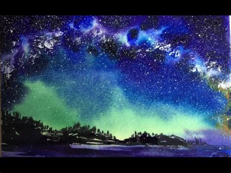 watercolor nebula tutorial how to paint a galaxy with watercolor a nebula