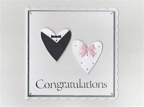 Wedding Card Congratulations by Wedding Congratulations Card Handmade Card