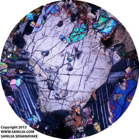 Piemontite Thin Section by Mineralogy Media Library Sanuja Senanayake