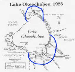lake okeechobee florida map 1926 palm hurricane
