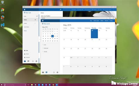 how to manage accounts in the new mail and calendar app