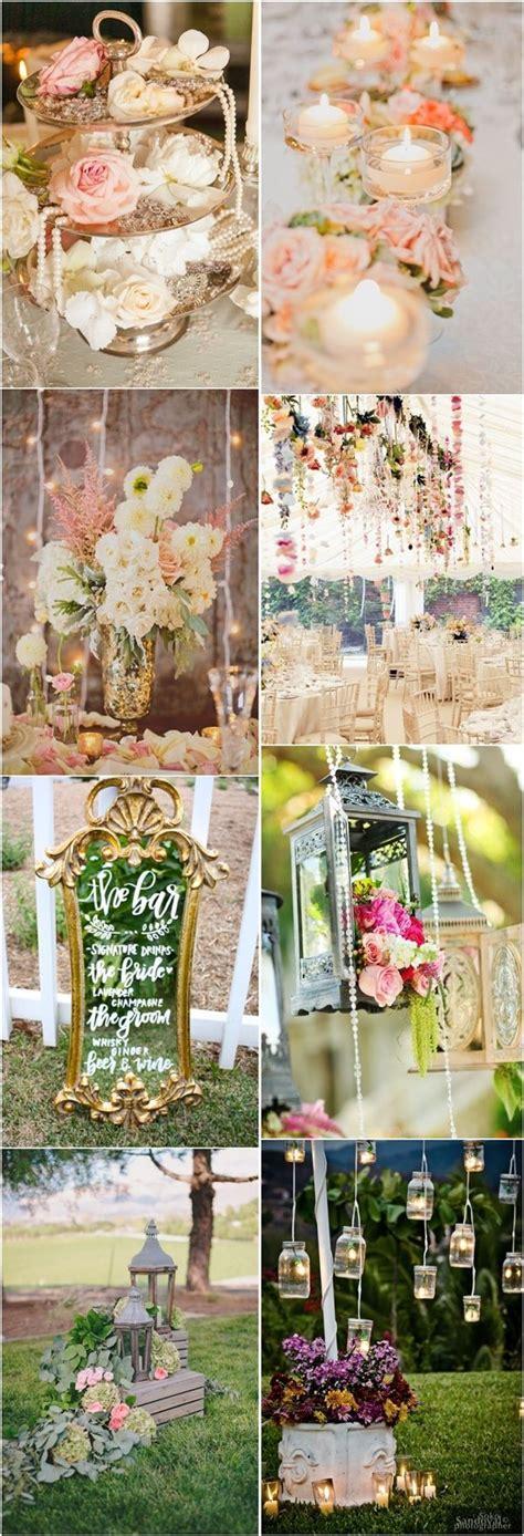 chic wedding decor rustic chic vinatge wedding decor ideas vintage weddings