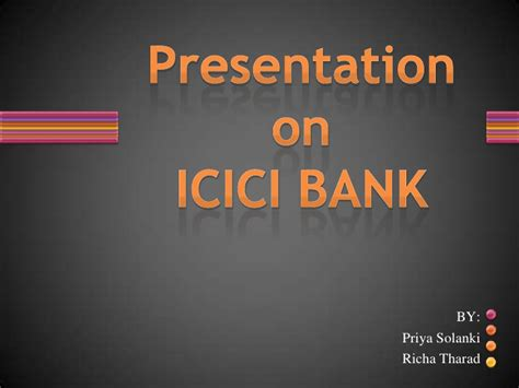 ppt templates for banking icici bank ppt