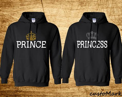 Matching Jackets For Couples Prince Princess Hoodies Sweat Sweashirts Lovely