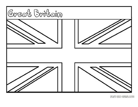 free coloring pages of england flag outline printable flag of great britain coloring page for kids