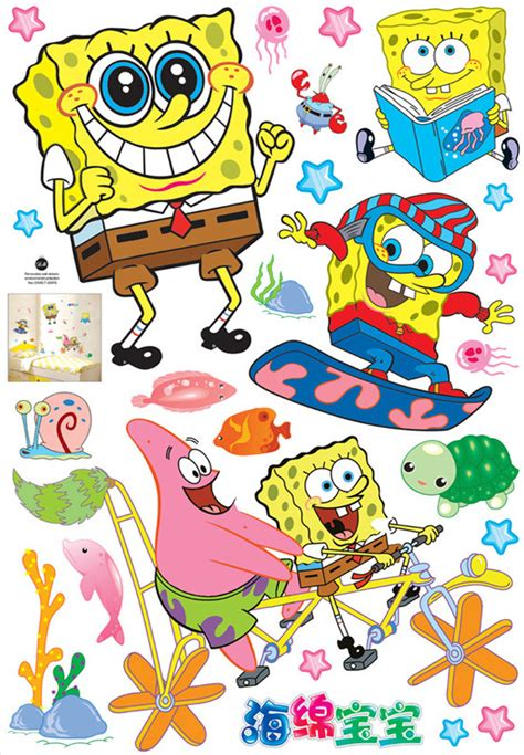 Wallpaper Sticker Spongebob 1 popular spongebob room decorations buy cheap spongebob room decorations lots from china