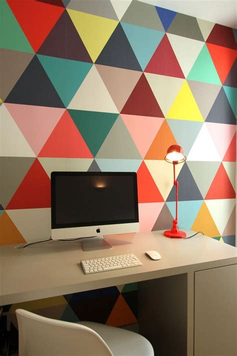 Farbige Akzente Wand by Patronen Op Muur Interieur Insider